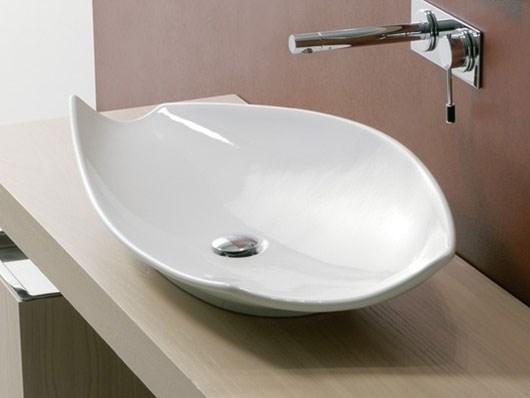 håndvask ovenpå bordplade Monteret på bord håndvask ovenpå bordplade